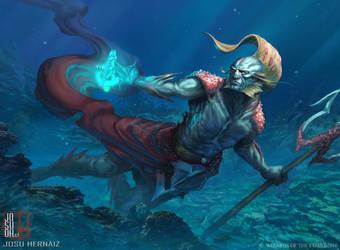 Thrasios, Triton Hero by RobotDelEspacio