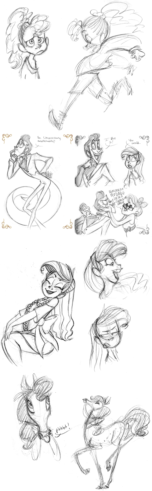 July 2014 Sketchdump by katseartist