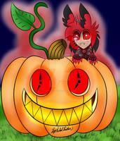 Jack O Lantern with Chibi Alastor