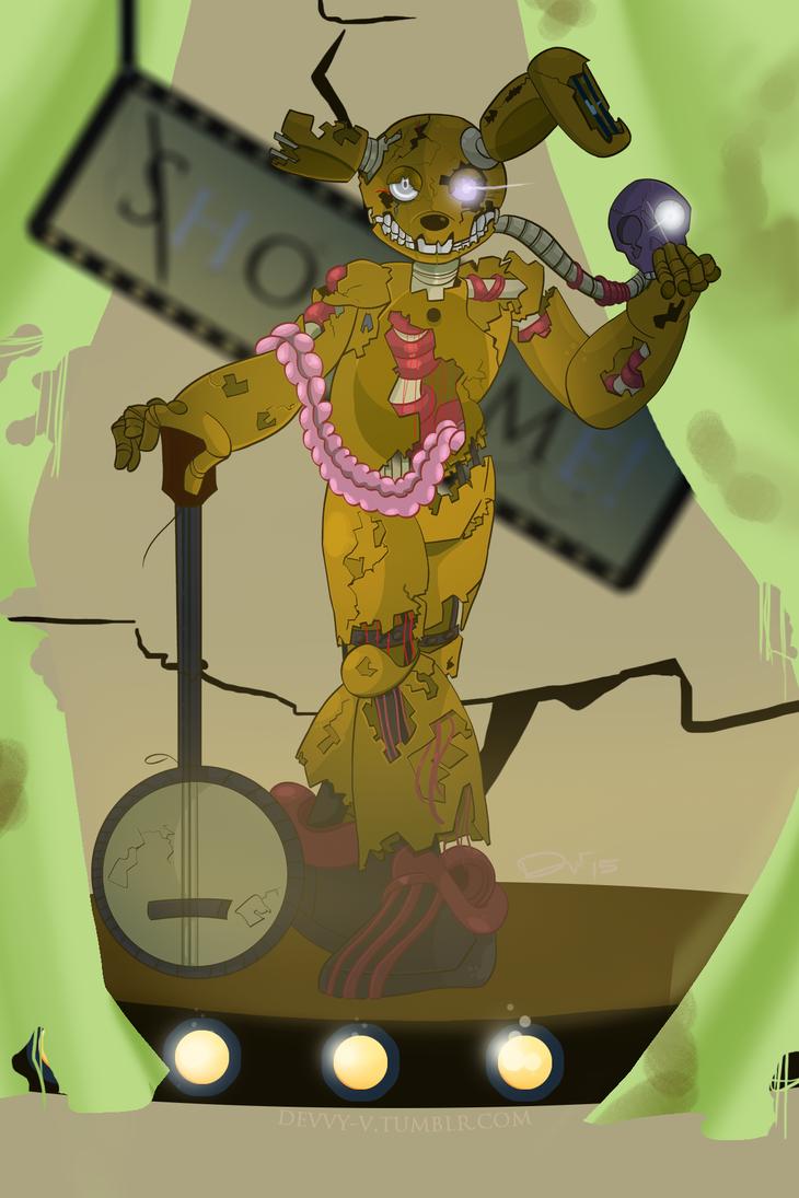 Chibi Springtrap by DeviousVampire