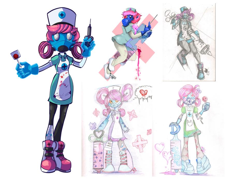 Nurse Inque drafts by DeviousVampire