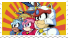 Samurai Pizza Cats Stamp by Snail-Guy