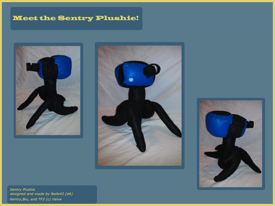 Tf2 Sentry Toy: TF2: Meet The Sentry Plushie By Belle43 On