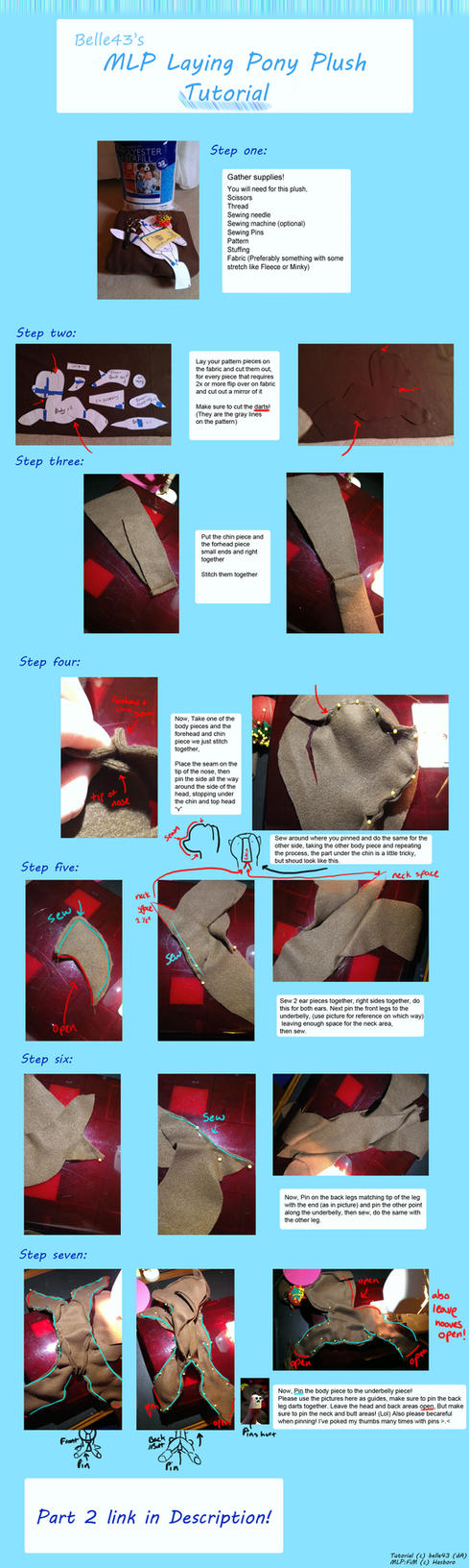 MLP Laying Pony Plush Tutorial by Belle43