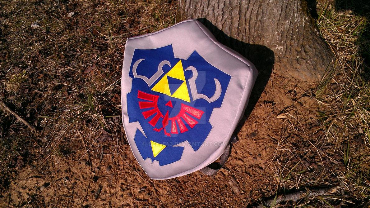 LoZ: Hylian Shield Backpack by Belle43