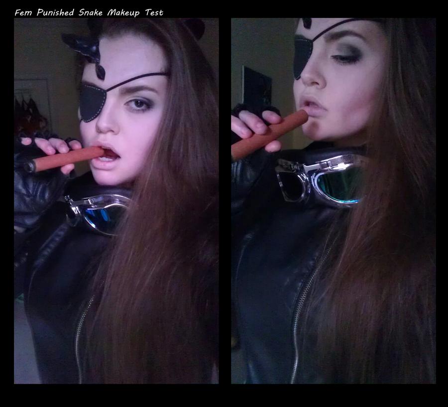 Fem!Punished/Venom Snake Make-up Test by Belle43