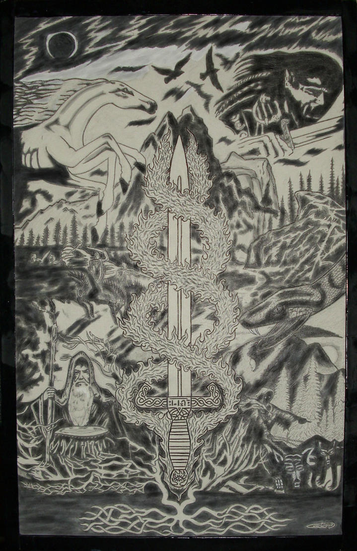 In memory of Quorthon Bathory by RainoutTitan