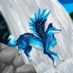 Blue Flying Wolf