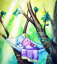 Sleeping Kirby by LaSpliten