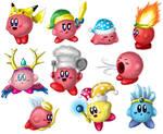 Various Kirbies