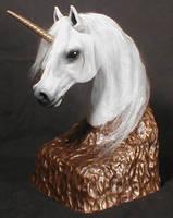 Unicorn bust by mysticalis