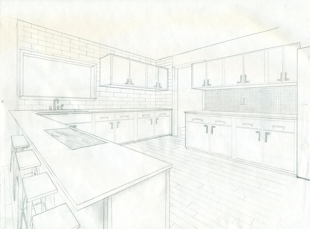 2-Point Perspective Kitchen by dragal996 on DeviantArt