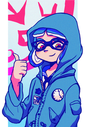 Splatoon Half Body Commission by Midnight-x-Rose
