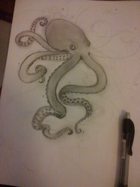 Octopus Tattoo Sketch Octopus Tattoo Sketch by