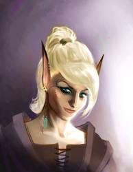 Commission: Elven Warrior by HederaHiberna