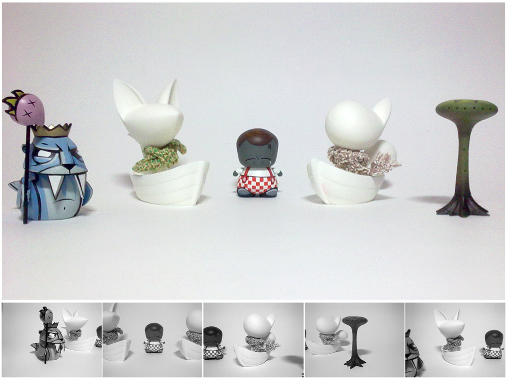 Collection of Vinyl Toys by Sir-SiriX
