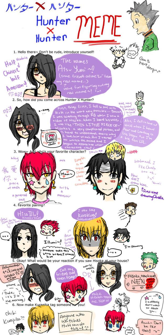 Hunter X Hunter Meme By AtsuYumi On DeviantArt - Hairstyle drawing meme