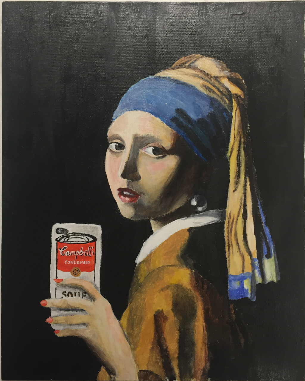 Kayleemulder 3 4 The Girl With The Pearl Earring Taking A Selfie By  Almostastrid
