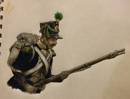 Napoleonic Soldier - French Voltiguer by StarvedFox