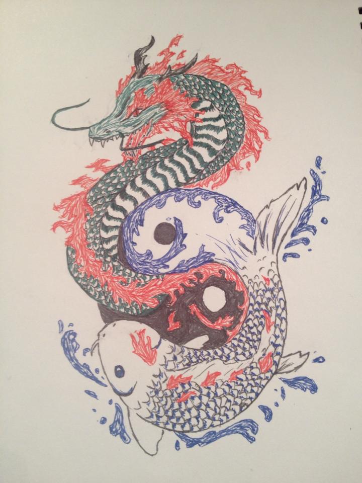 Koi dragon by robler on deviantart for Black dragon koi