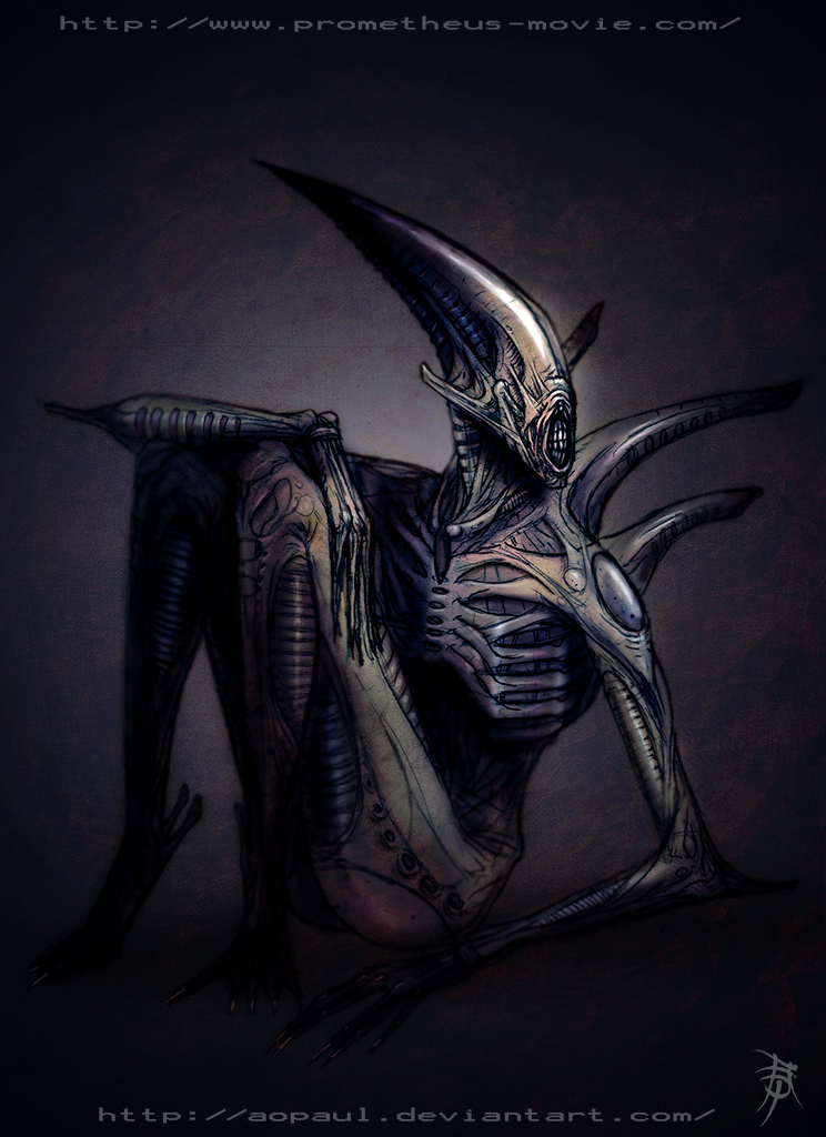 Prometheus adult 39 deacon 39 by aopaul on deviantart for Prometheus xenomorph mural