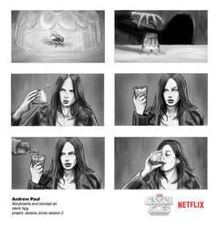 Jessica Jones season 2 FLY Promotional storyboard by AOPaul