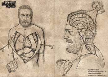 Planet of the Apes 50th Anni 'Autopsy Report' by AOPaul