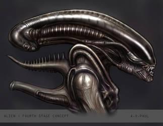 '4th Stage' Alien by AOPaul
