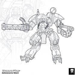 Robocop Absolute Unit linework