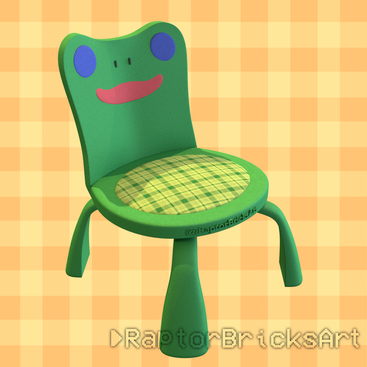 Froggy Chair Animal Crossing By Raptorbricks On Deviantart