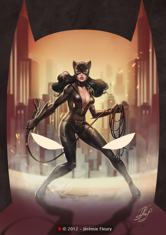 Catwoman VS Batman by Trefle-Rouge