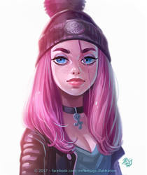 Pink girl by Trefle-Rouge