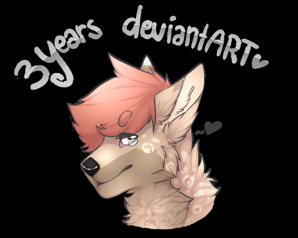 3 years deviantART ! by x-Blacky-x