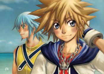 Kingdom Hearts Fanart by erie