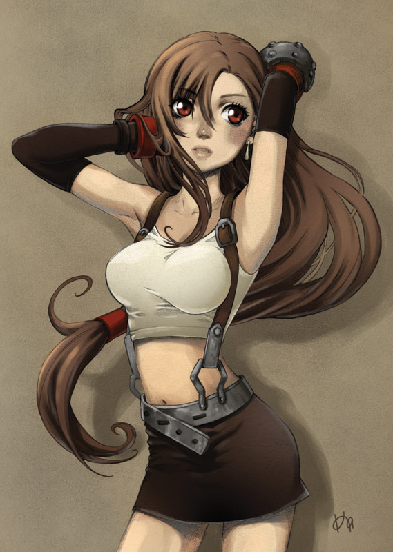 Fanart of Tifa from Final Fantasy VII by erie