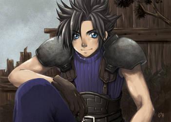 Fanart of Zack from Final Fantasy by erie