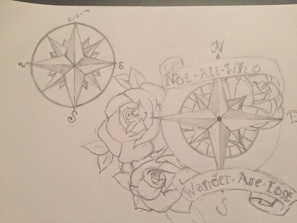 Compass Tattoo Line Drawing : Compass tattoo design by the momerath path on deviantart