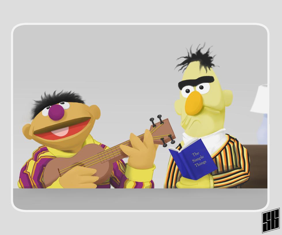 Ernie and Bert by Virtual-SG