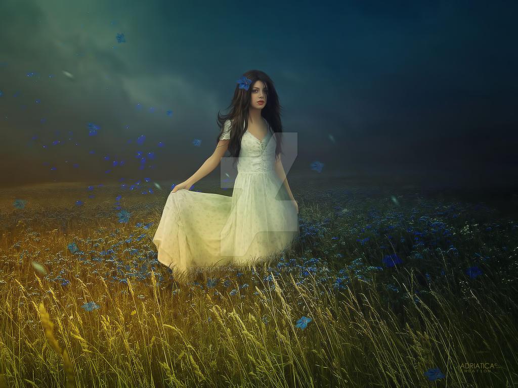 Blue fields by AdriaticaCreation