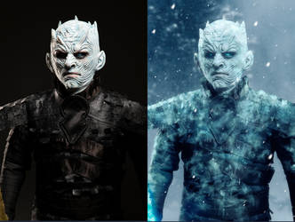 The Night King before and after