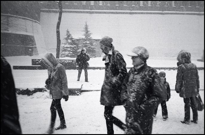 Snow on Alexandrovsky garden by ESafian