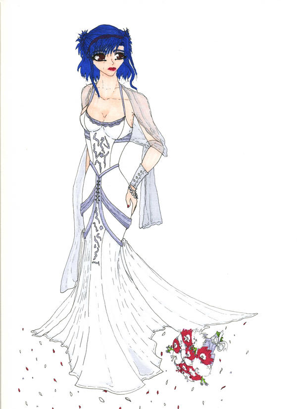 Wedding Dress by Red-eyed-Kitsune