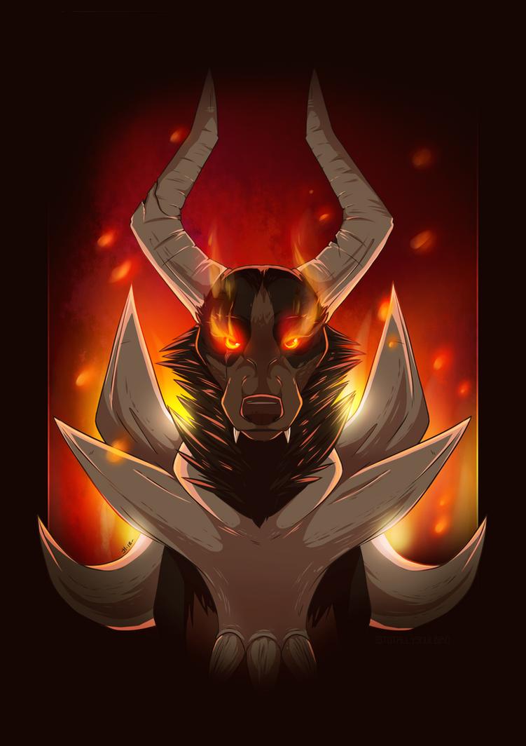 Mega Houndoom by DarkHunter666