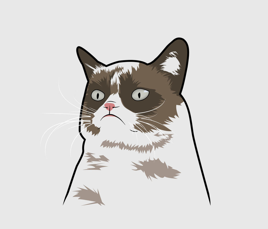 Grumpy Cat Face Drawing | www.imgkid.com - The Image Kid ...