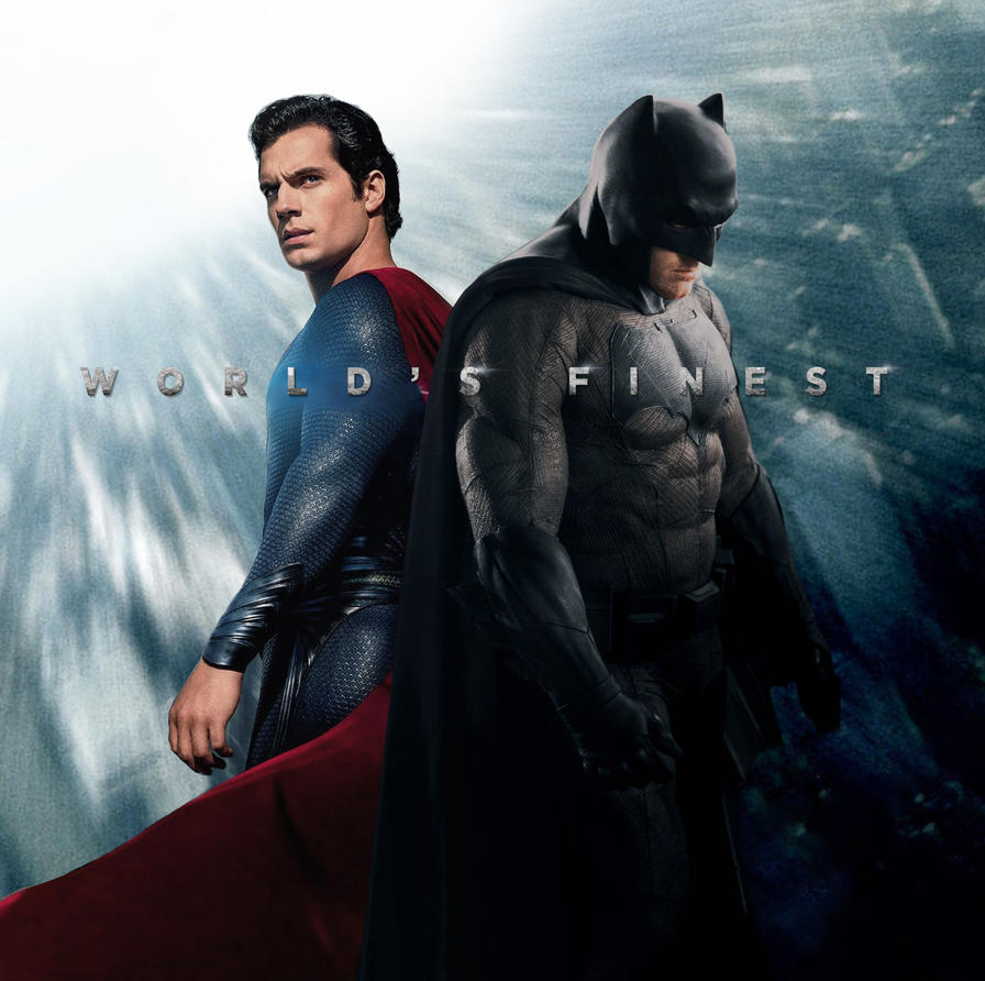 World's Finest Batman / Superman Poster by ImWithStoopid13