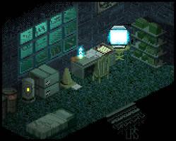 Dark Slum Room