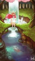Child of Light : Secret place by acetea-san