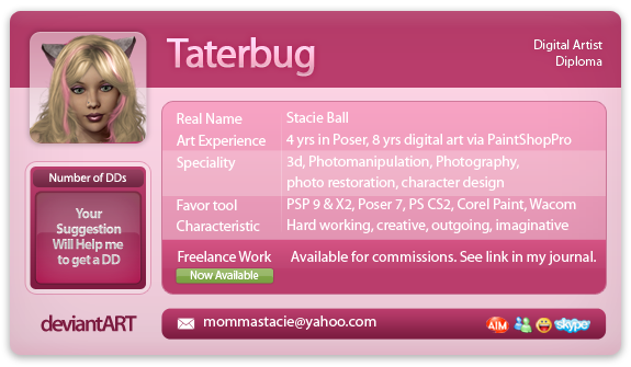 taterbug's Profile Picture