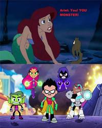 Ariel hates Teen Titans Go
