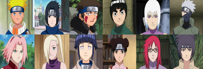 Naruto Girls with their boys